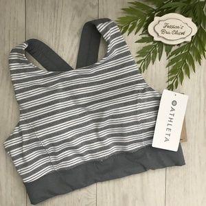 a68346f978fd74 Athleta Intimates   Sleepwear - ATHLETA Stripe Deep Breath Bralette NWT  Medium